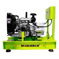 Дизельный генератор 10 кВт DALGAKIRAN DJ13NT открытого типа