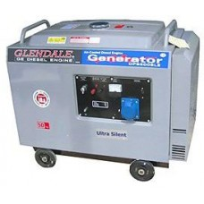 Электрогенератор дизельный 5 кВт Glendale DP6500L-SLE/3 в кожухе