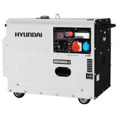 Дизельный генератор 6 кВт HYUNDAI DHY 8000SE-3 в кожухе