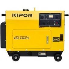 Электрогенератор дизельный 5 кВт KIPOR KDE6500T3 в кожухе