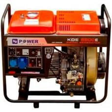 Дизельный генератор KJ POWERKDE5500E3 открытого типа
