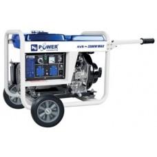 Электрогенератор дизельный 5 кВт KJ POWER KJ6500E открытый