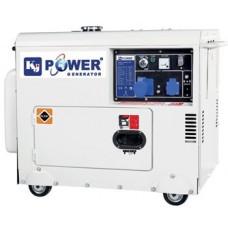 Генератор дизельный 4,6 кВт KJ POWER KJ6500T в кожухе