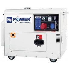 Дизель генератор 6 кВт KJ POWER KJ7500T3 в кожухе