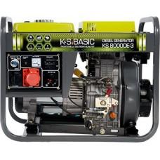 Генератор дизельный 6 кВт Könner&Söhnen KS 8000DE-3 открытого типа
