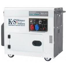 Электрогенератор дизельный 7,5 кВт Könner & Söhnen KS 9200HDES-1/3 ATSR в кожухе
